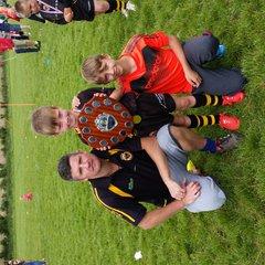 wath brow u7s winning festival shield at broughton 10th July 2015
