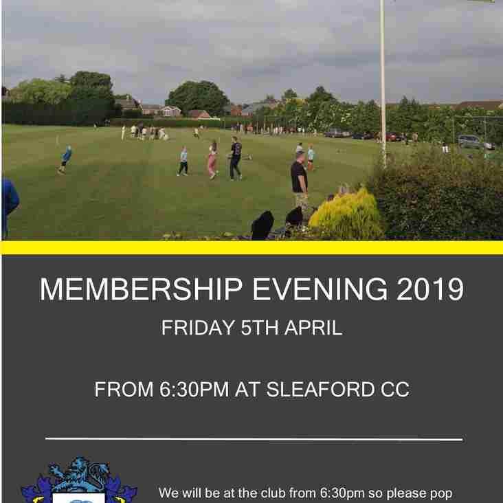 Membership Evening 2019