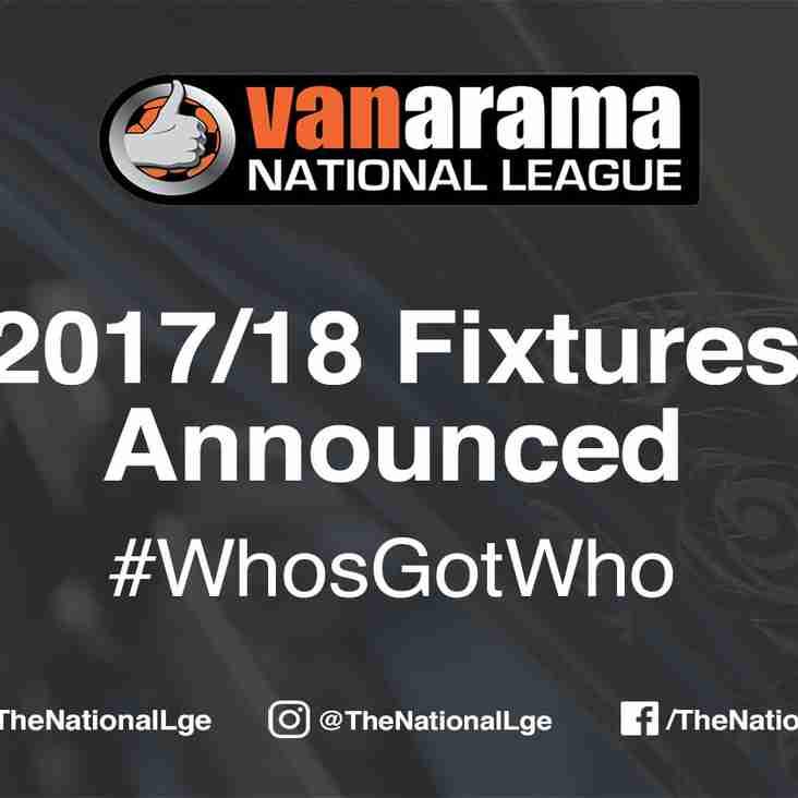 Announced - The Vanarama National League Fixtures 2017/18