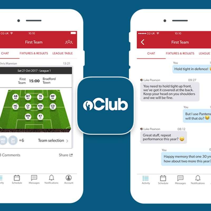 Team CHAT now live in the new Club app