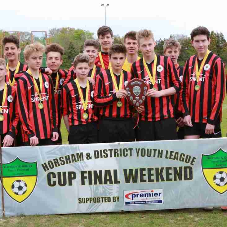 Ashington Cougars U15 win the plate Competition