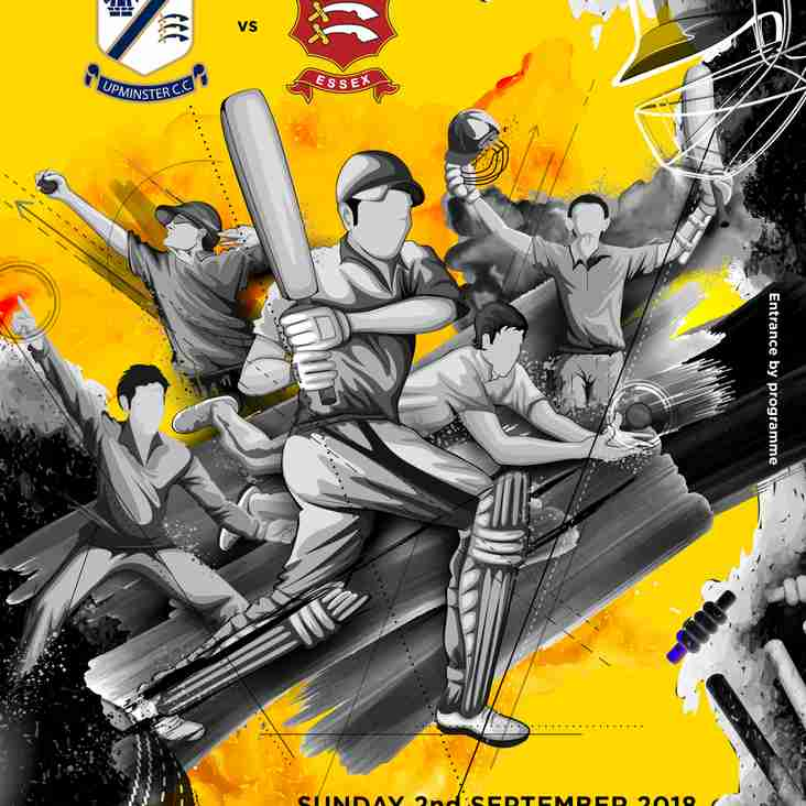Upminster CC v Essex CCC XI - TODAY AT 3PM (Sunday)