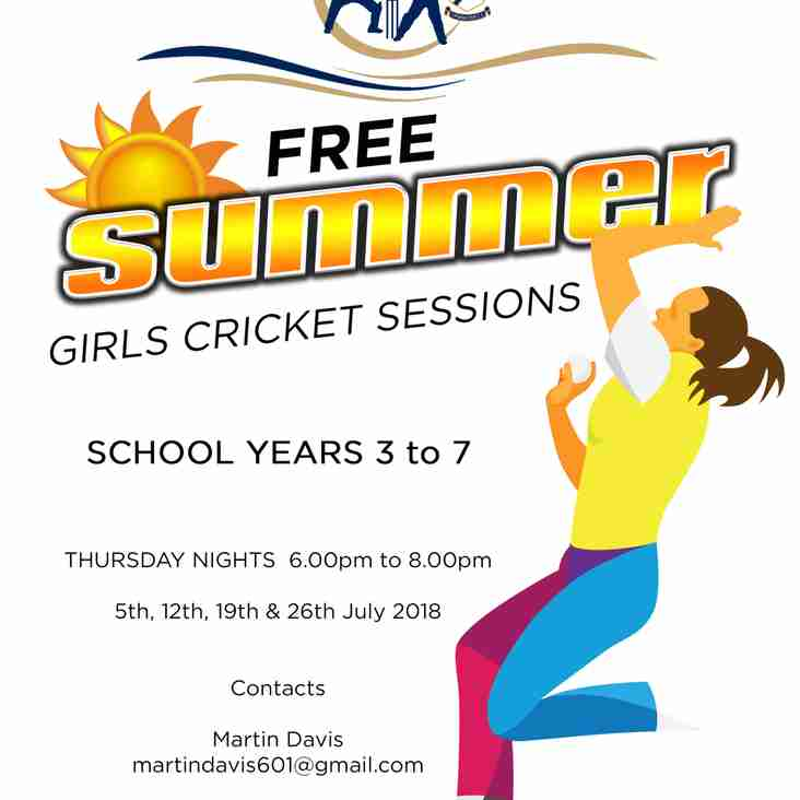 Free Summer Girls Cricket Sessions