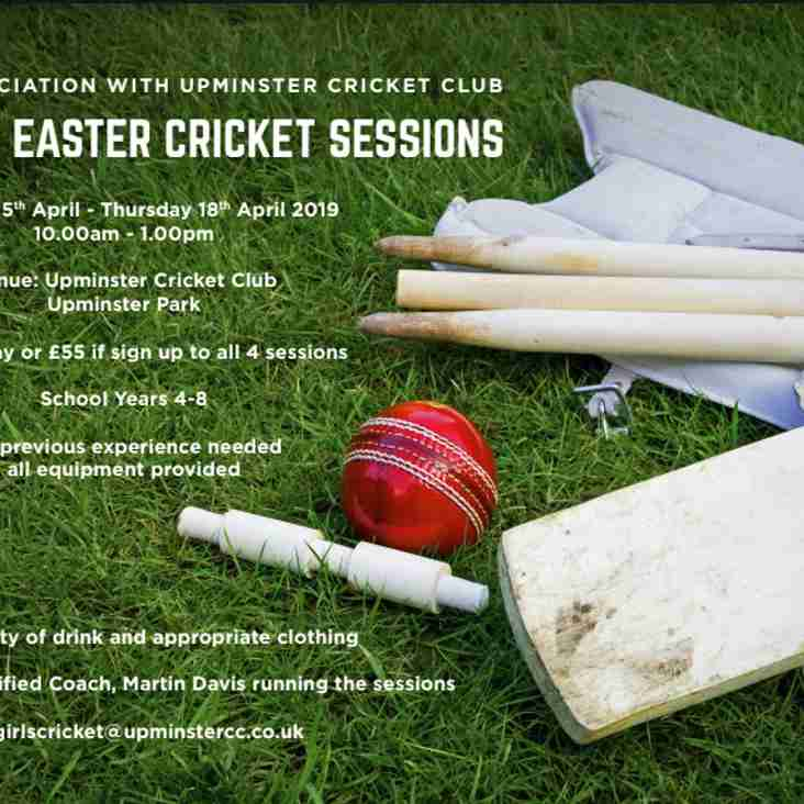 Girls Easter Cricket Sessions