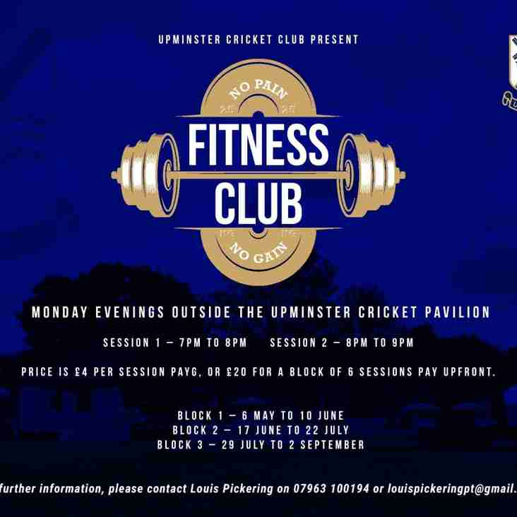 Fitness Club starts Monday 6th May