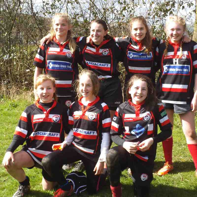 Baildon U'13's visit Littleborough girls festival