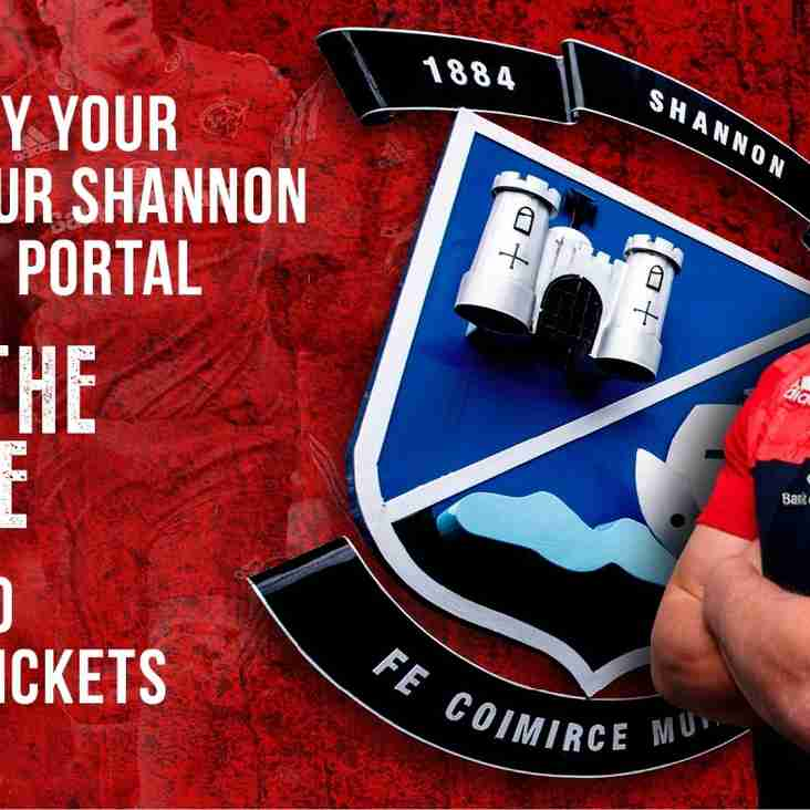 Purchase you Munster rugby tickets through SRFC!!