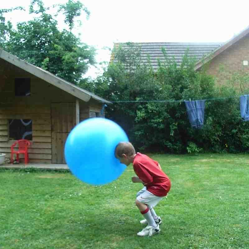 Big ball or small boy?