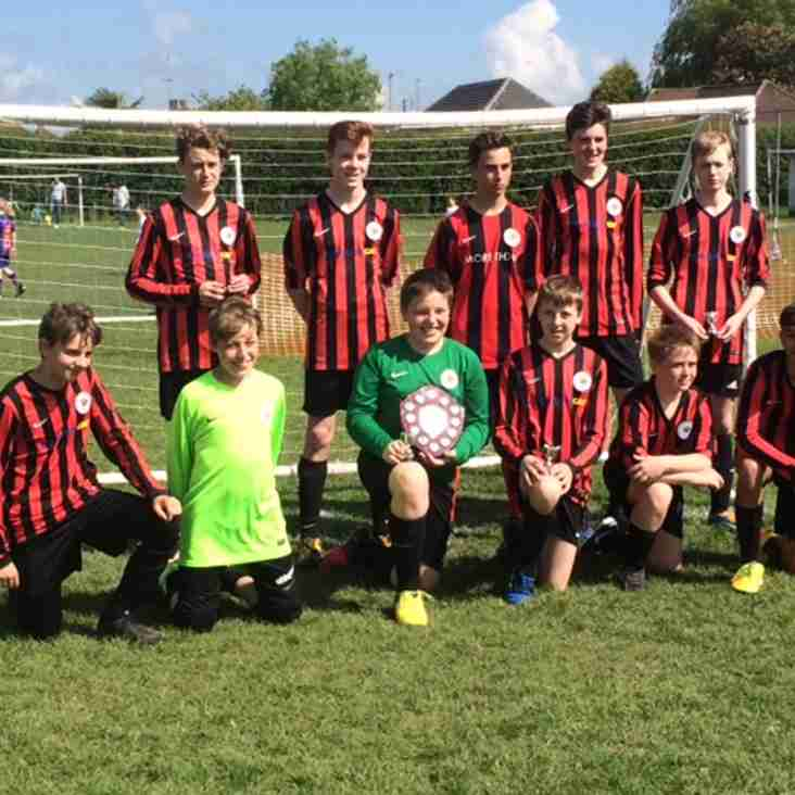 Ashington Cougars U14  - Winners of Home Tournament 2017