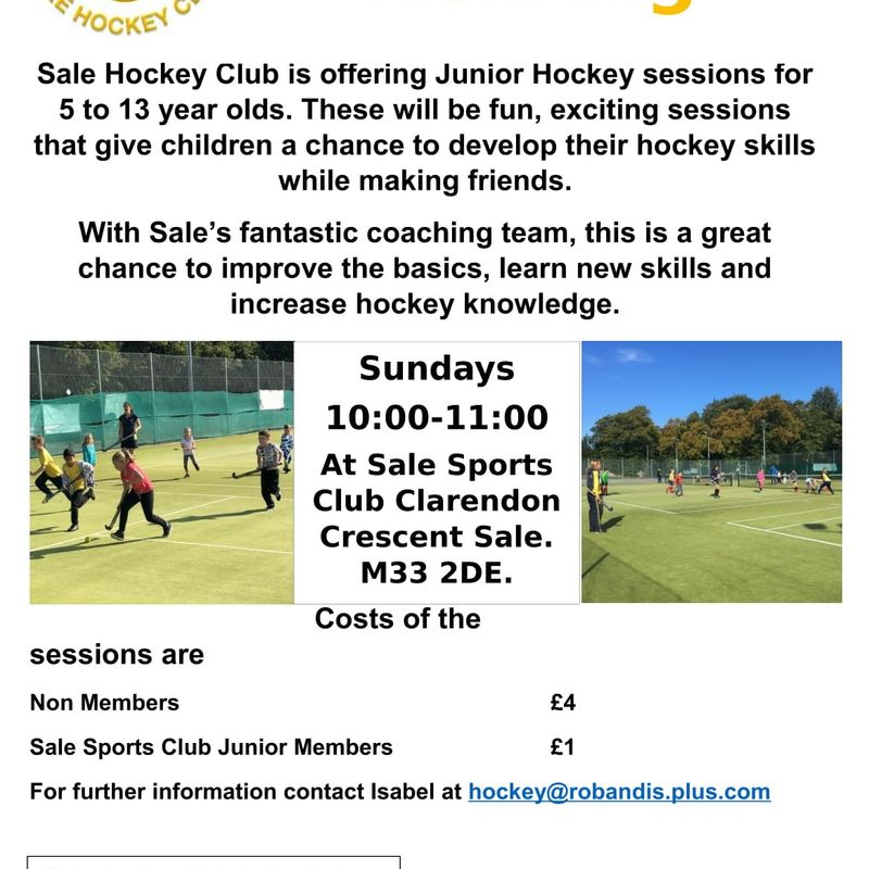 Junior Hockey at Sale Sports Club 5-14 years