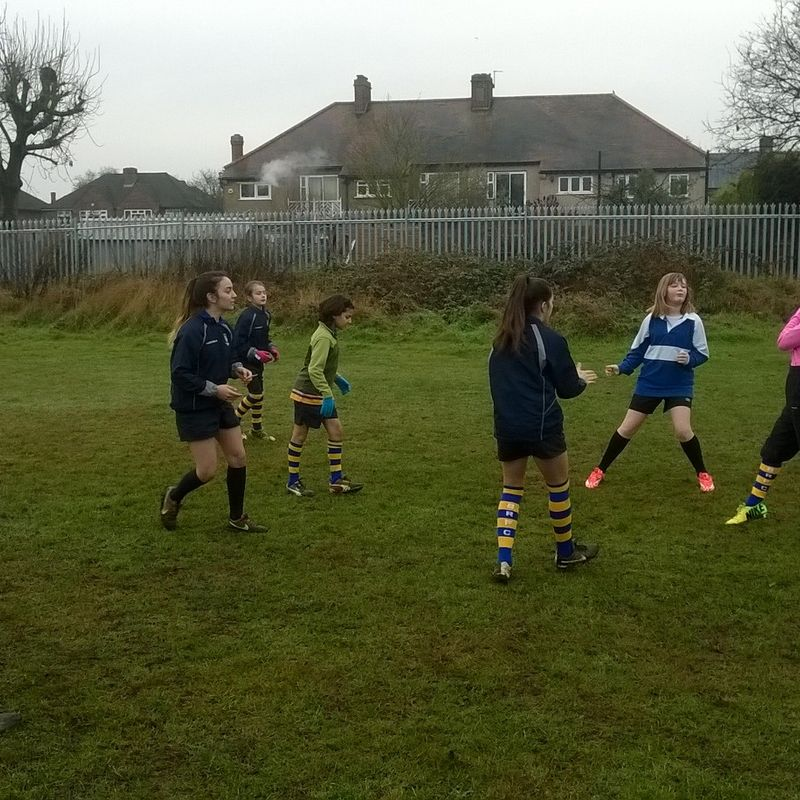 Girls rugby ptich up and play 120 girls at beckenham