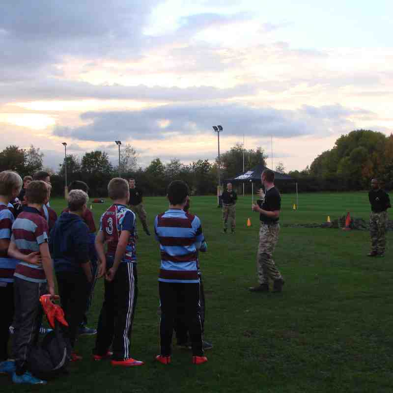Ashby U13s Army Training