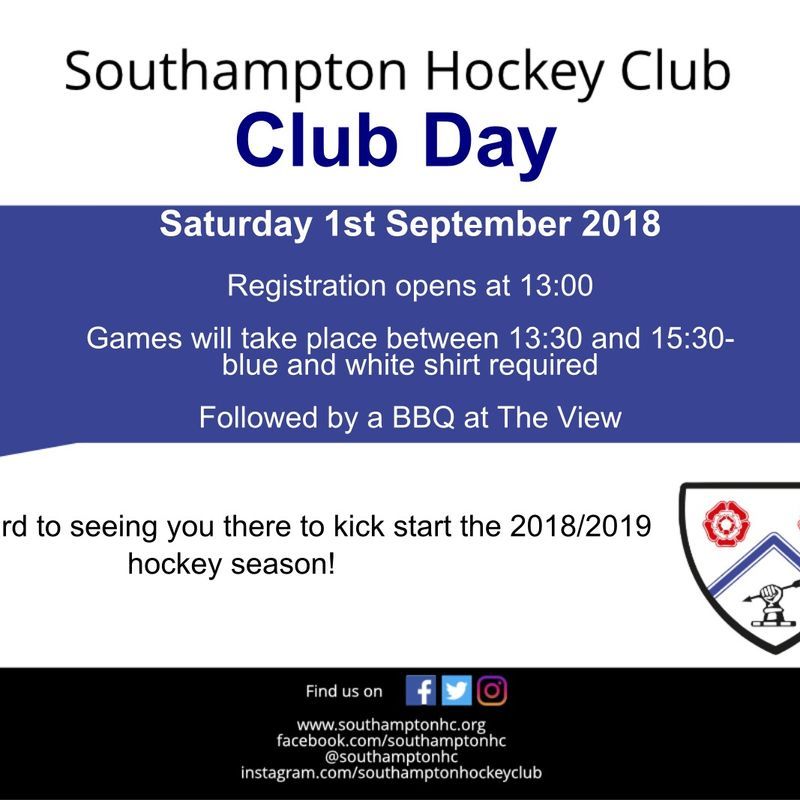Southampton HC Club Day and BBQ!