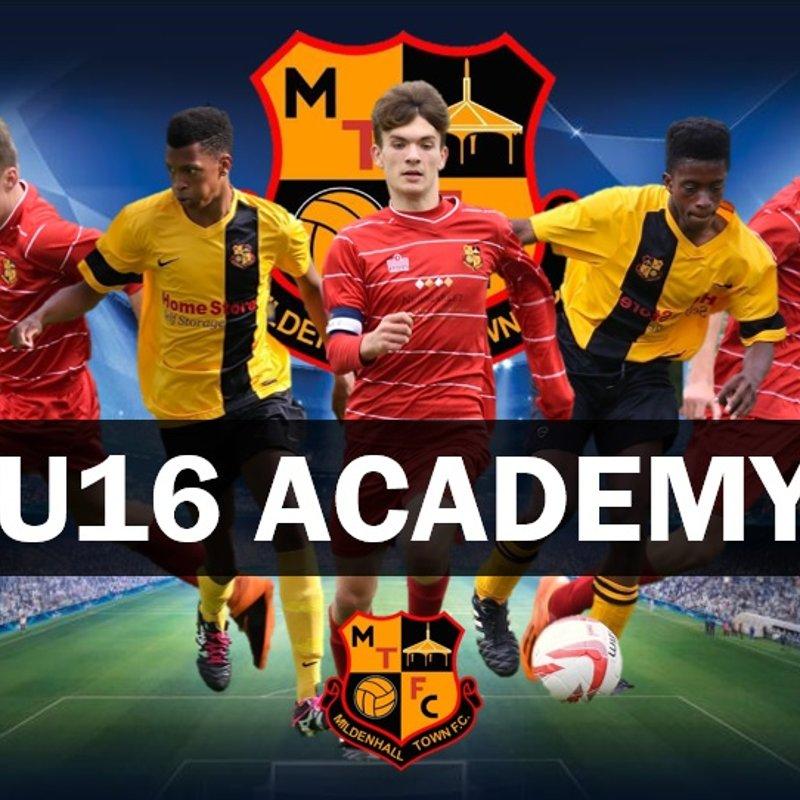 U16 ACADEMY TRIALS - APPLY NOW