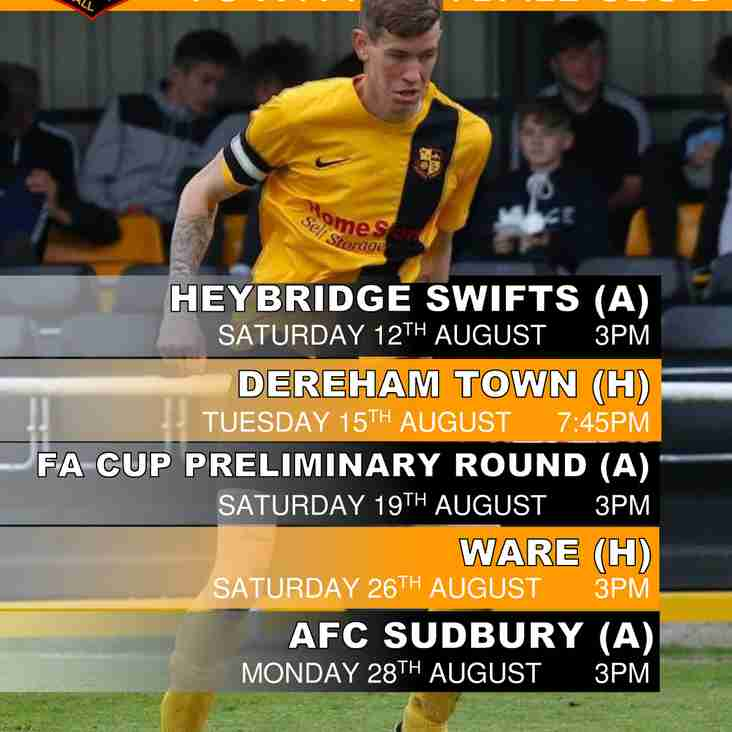 DOWNLOAD YOUR FREE MILDENHALL TOWN AUGUST FIXTURES POSTER NOW