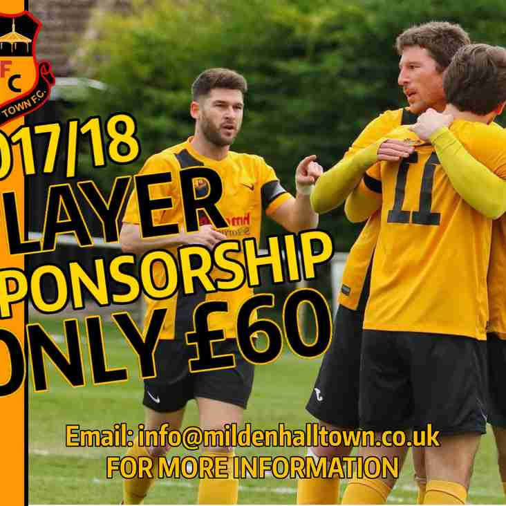 EXCITING PLAYER SPONSORSHIP OPPORTUNITIES AVAILABLE NOW!