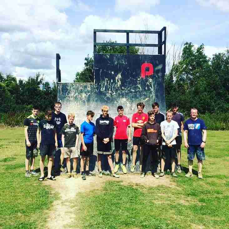 U16 Academy enjoy assault course training with The Playground