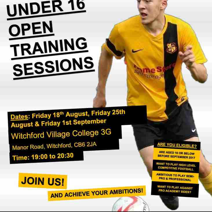 Mildenhall Town FC U16 Players Wanted