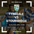Next Home Fixture: Tynedale vs Stourbridge
