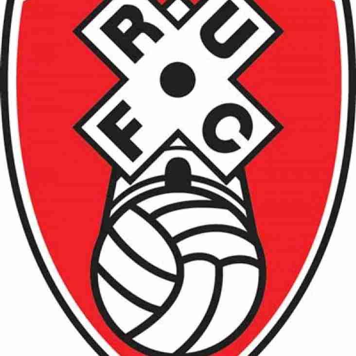 Parkgate FC v Rotherham United @ Roundwood