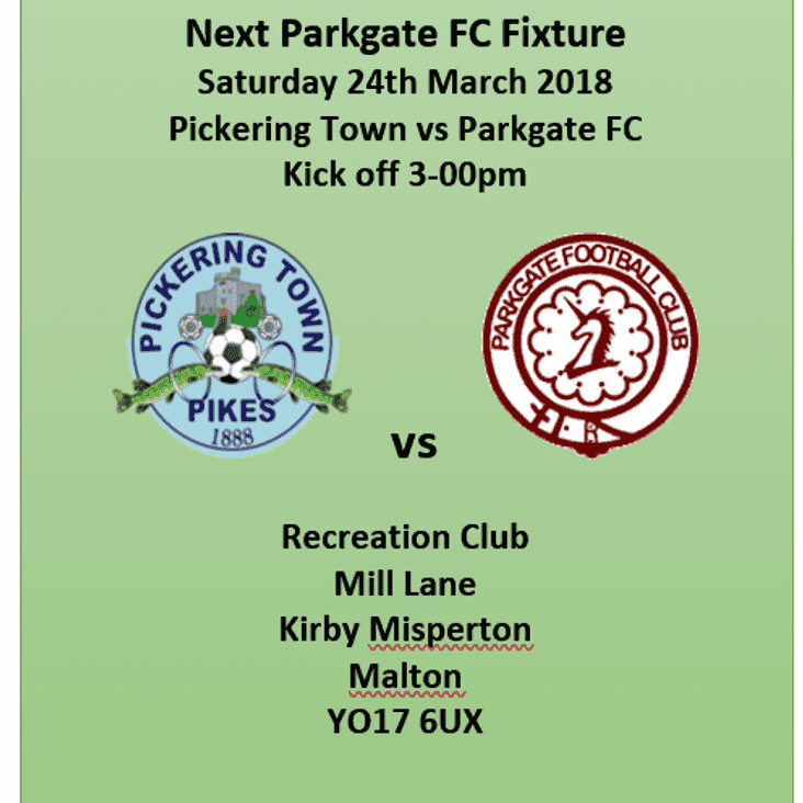 Foxy' boys head off to Pickering Town FC this Saturday......
