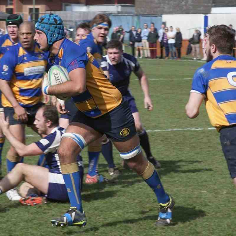 1st XV at home to Ventnor 2nd April 2016.