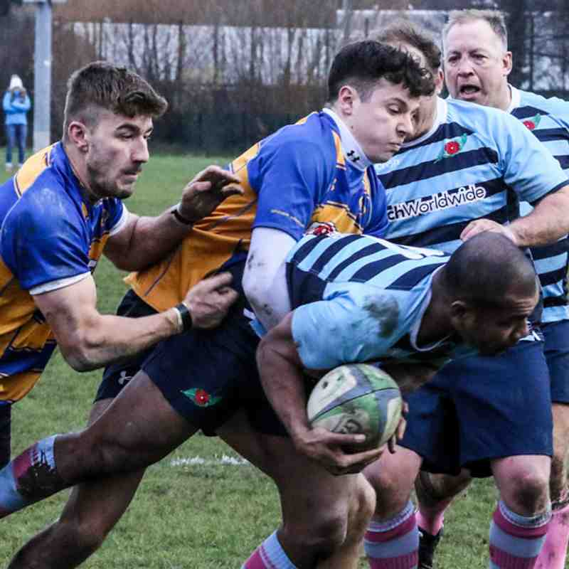1st 15 at Farnborough RFC 9th Dec 2017.