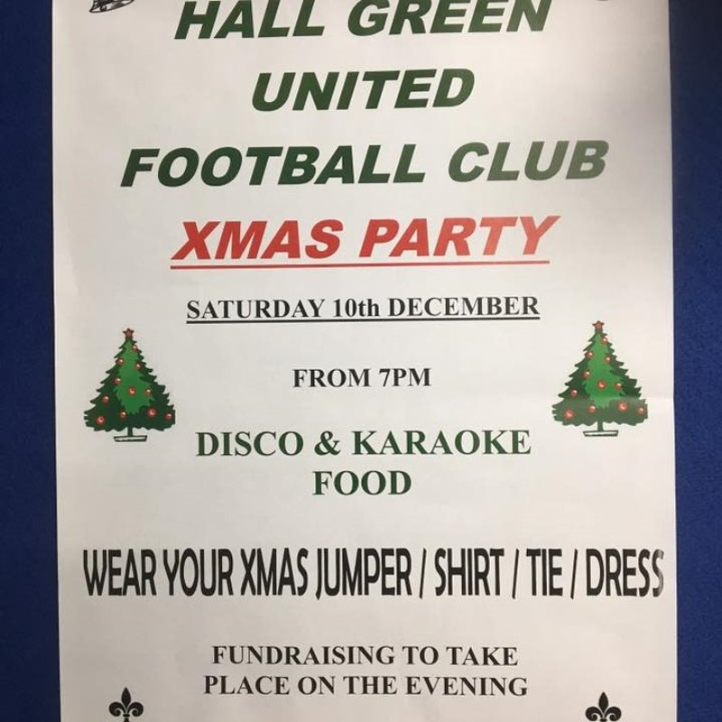 Hall Green United FC Christmas Party