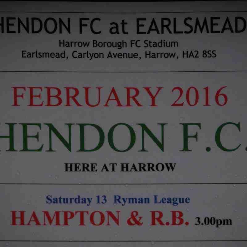 2016 02 13 Hendon FC v H&RBFC