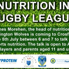 Warrington Wolves Nutrition Talk