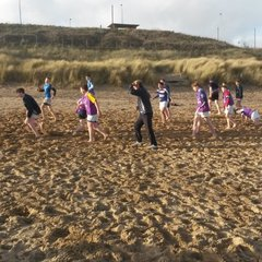 U15s beach training, Tynemouth Longsands, Sunday 20th December 2015