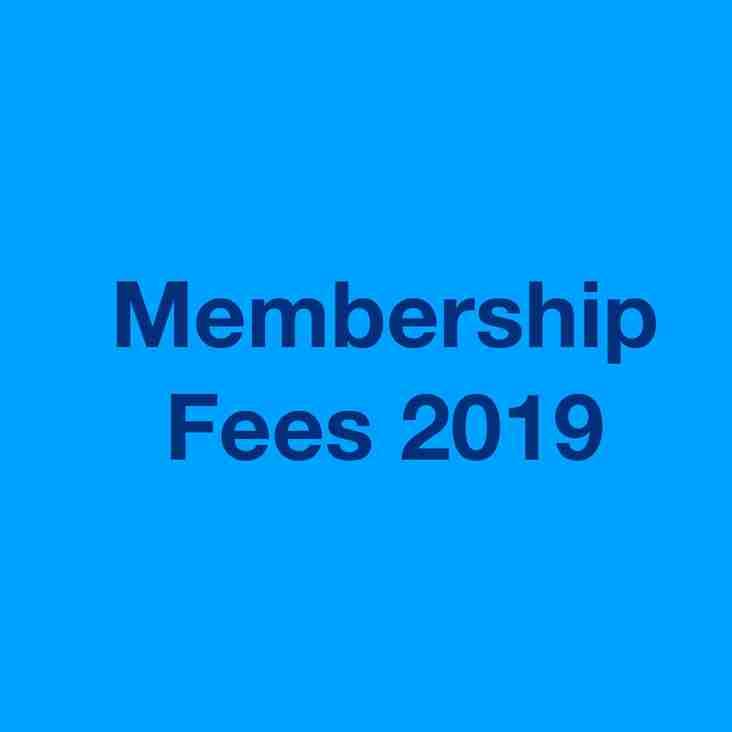 Membership Fees 2019