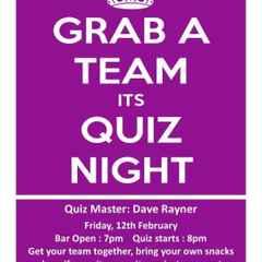 Quiz night with Dave Rayner