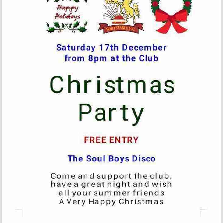 Whitstable CC Christmas Party