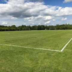 Training Pitch gets it's stripes!