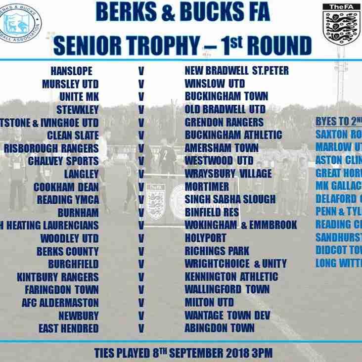 Senior County Trophy Draw