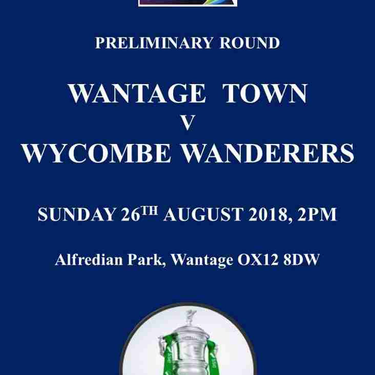 WANTAGE FACE WYCOMBE WANDERERS ON SUNDAY