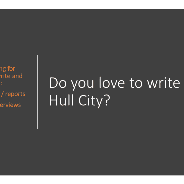 Do you love to write about Hull City
