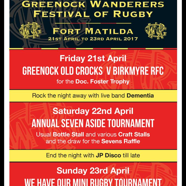 GWRFC Festival of Rugby