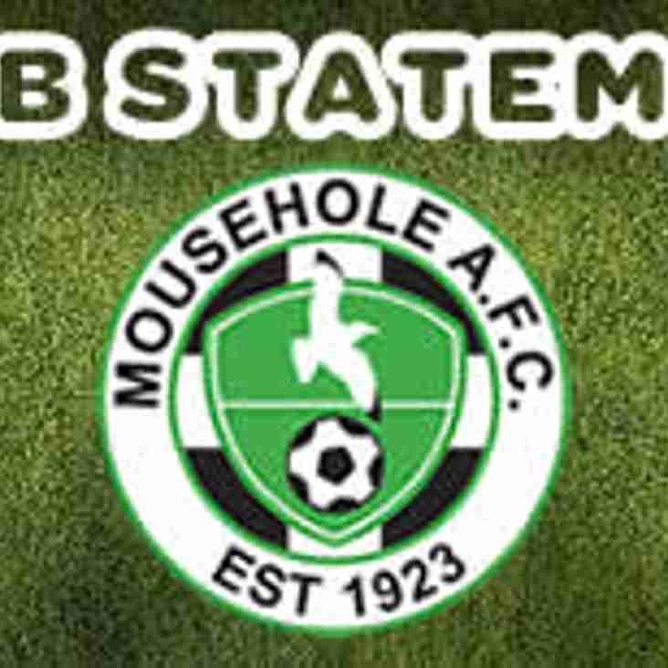 MOUSEHOLE AFC CLUB STATEMENT: END-OF-SEASON REPORT