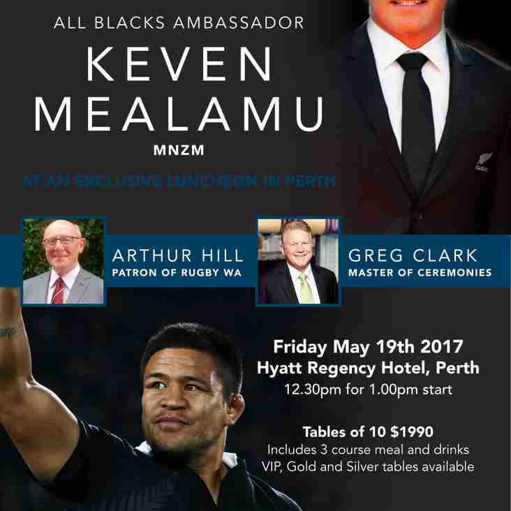 Lunch with All Blacks Legend Kevin Mealamu