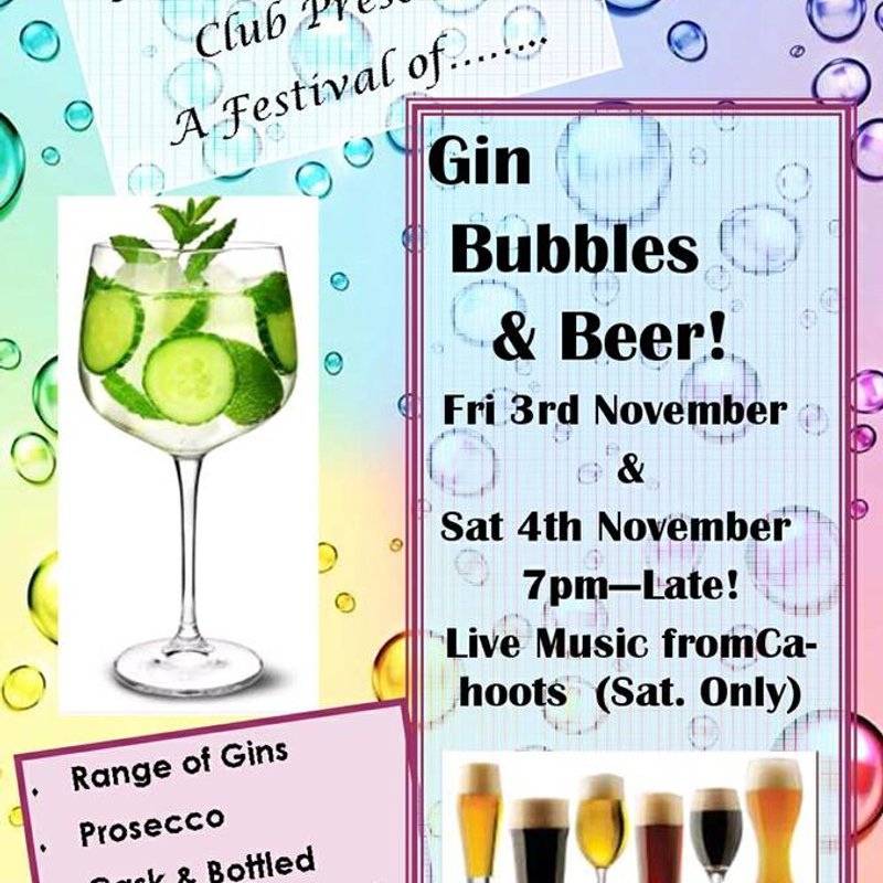 Gin, Bubbles and Beer