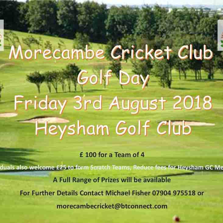 Morecambe CC Golf Day - 2018