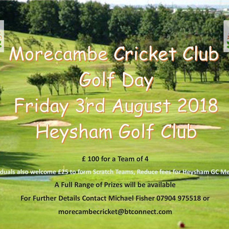 Morecambe CC Golf Day - 2018