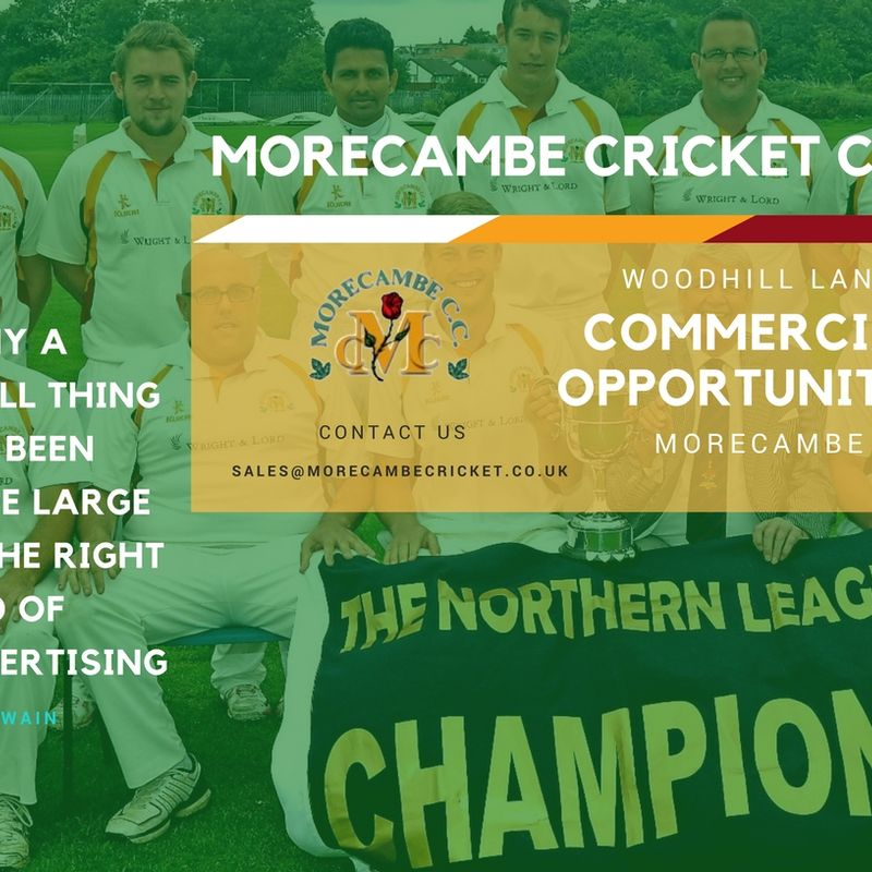Sponsorship at Morecambe Cricket Club
