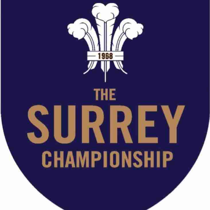 Surrey Championship win in the Sovereign Cup