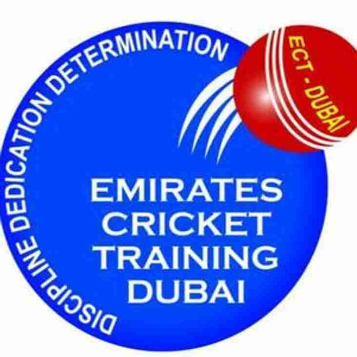 Emirates Cricket Training (ECT Dubai) Tour 1-11 July