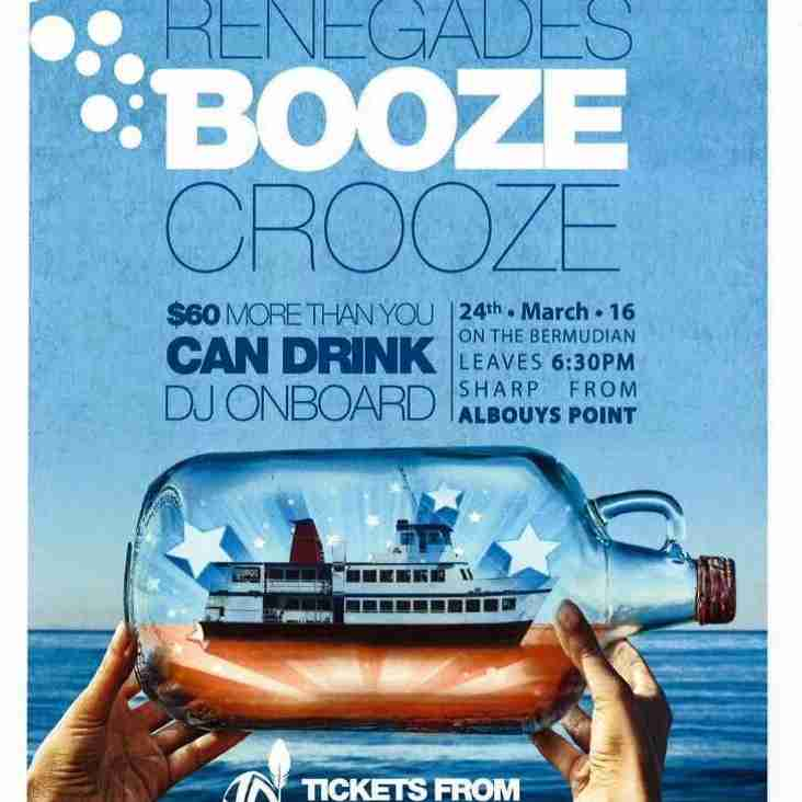 Countdown to Renegades Booze Cruise