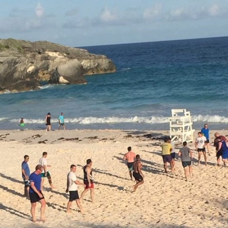 Beach Rugby on at Horseshoe Bay!