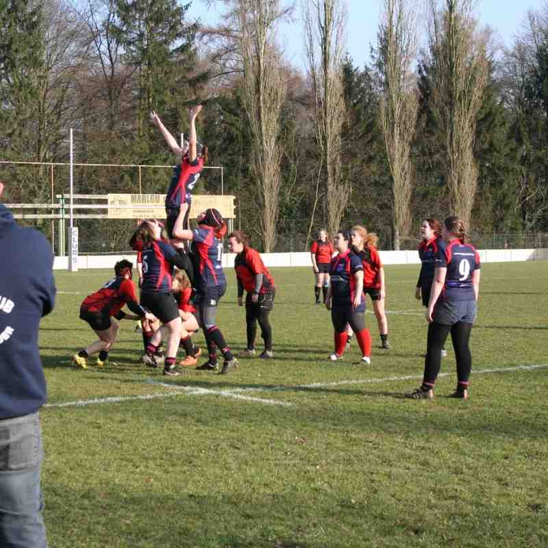 RC9 Ladies vs RC Mons: 17-0 (12/03/2016)